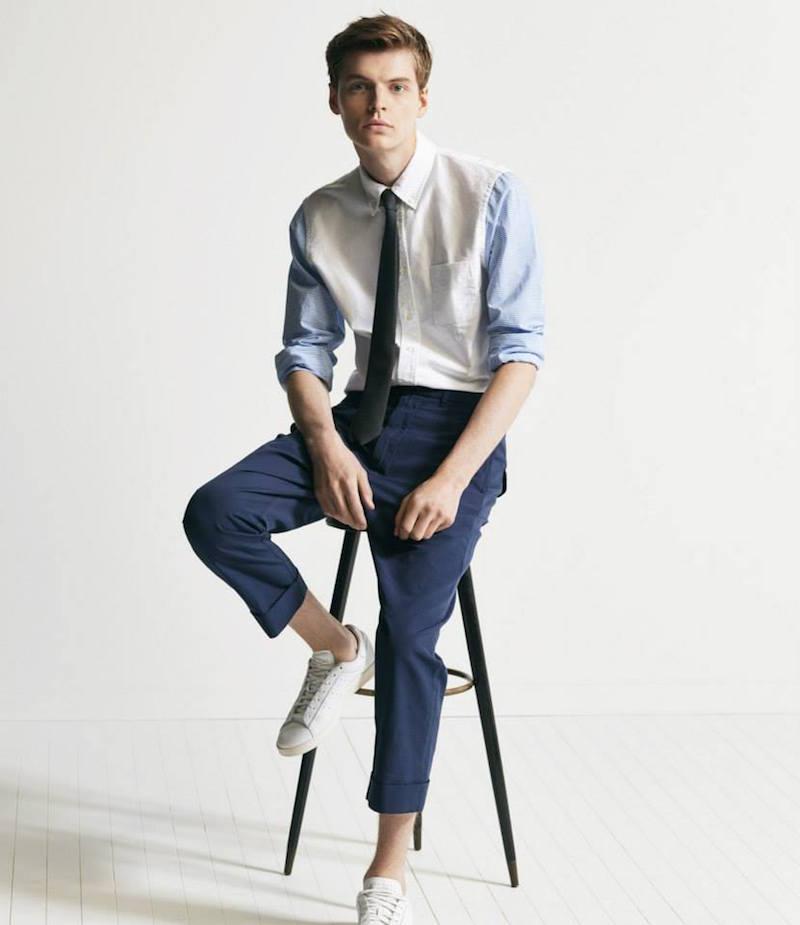 Wooster + Lardini Stripe & Oxford Combo Shirt