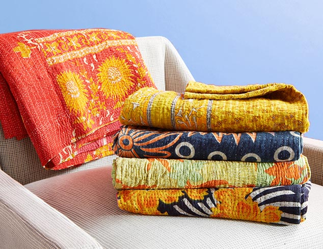 $69 Kantha Throws at MYHABIT
