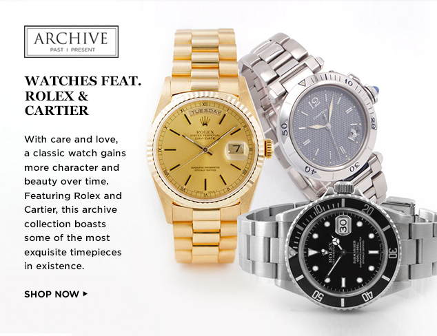 ARCHIVE: Watches feat. Rolex, Cartier & More at MYHABIT