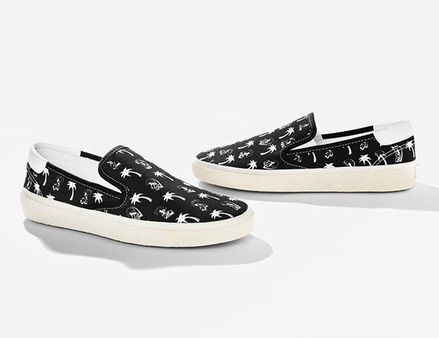 Saint Laurent Printed Slip-on Sneakers