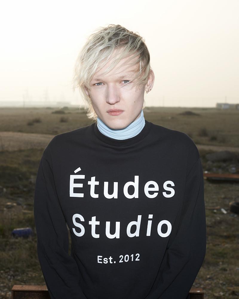 Etudes Studio Black & White Logo Sweatshirt