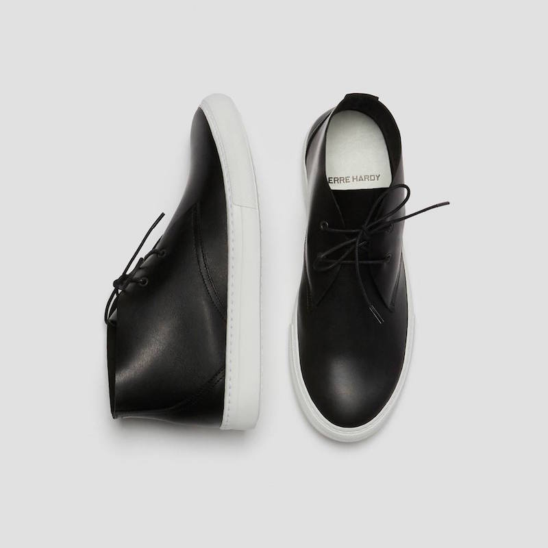 Pierre Hardy Black Leather Classic Chukkas