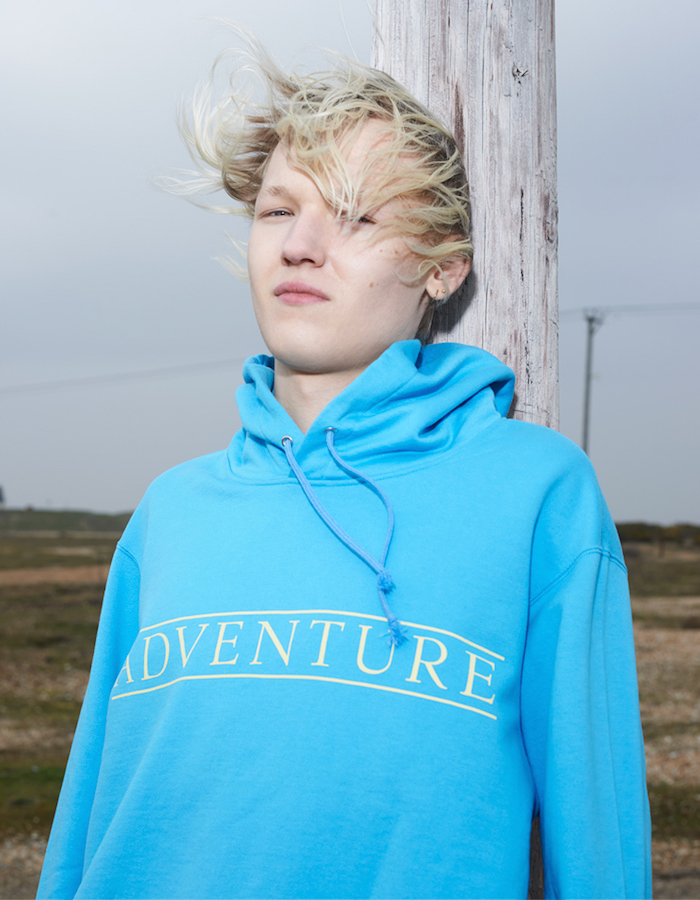 Undercover Turquoise Oversized 'Adventure' Hoodie