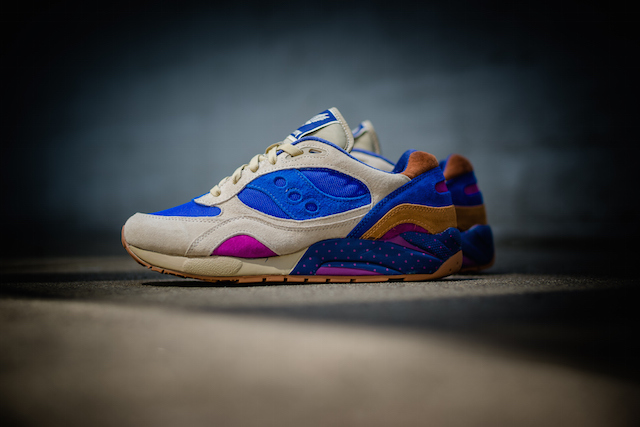 Bodega x Saucony G9 Shadow 6 Pattern Recognition Light Tan Blue_1