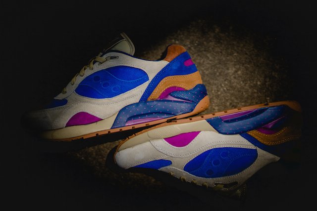 Bodega x Saucony G9 Shadow 6 Pattern Recognition Light Tan Blue_2