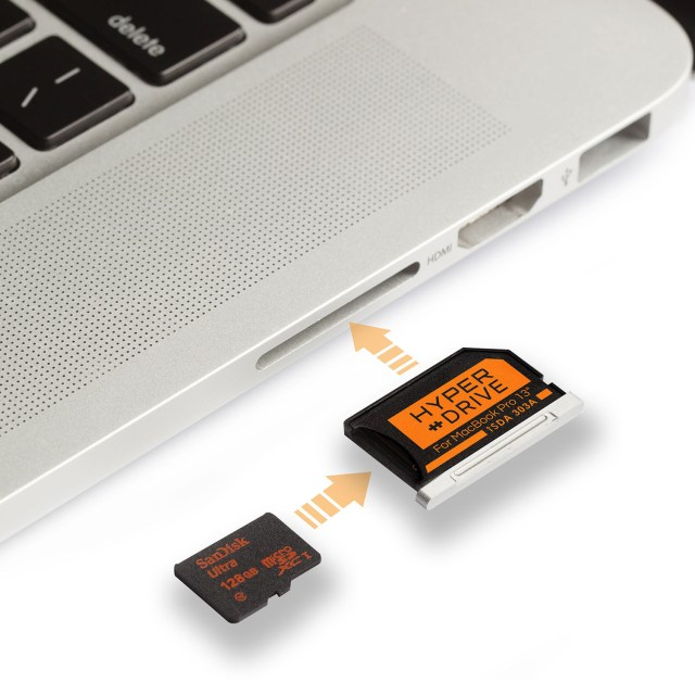 HyperDrive microSD Adapter for MacBook