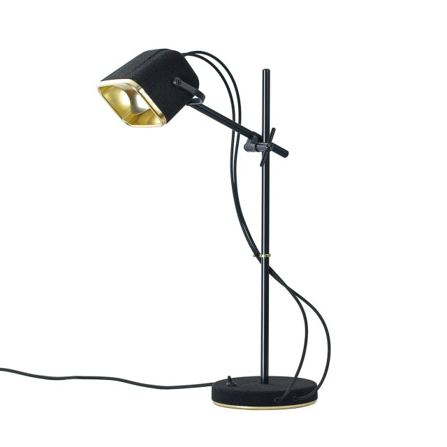 SWAB Design Mob Velvet Table Lamp in Black & Black Cord