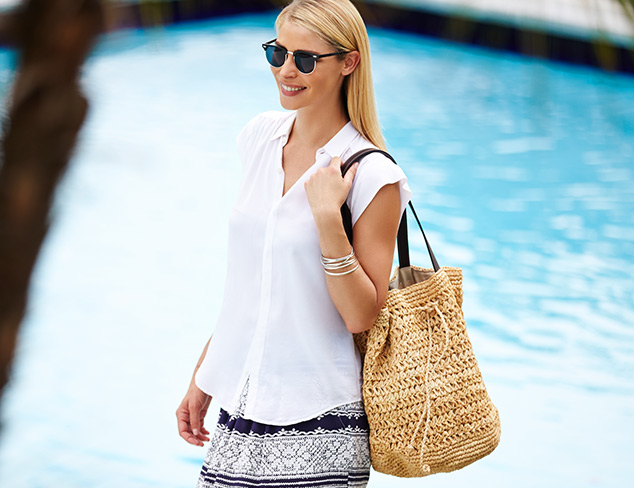Sunny Outlook: Beach Bags, Straw Hats & More at MYHABIT