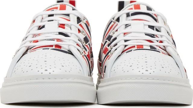 Thom Browne Tri-Color Grosgrain Basketweave Sneakers_2