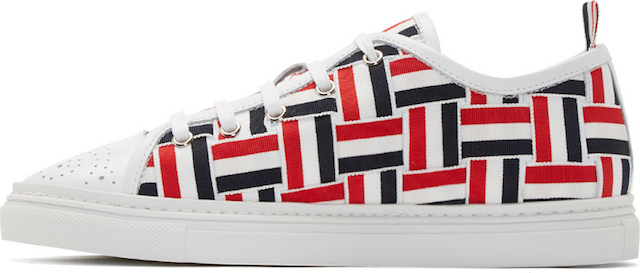 Thom Browne Tri-Color Grosgrain Basketweave Sneakers_3