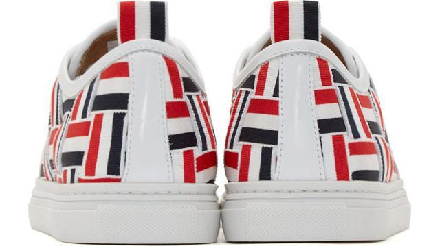 Thom Browne Tri-Color Grosgrain Basketweave Sneakers_4
