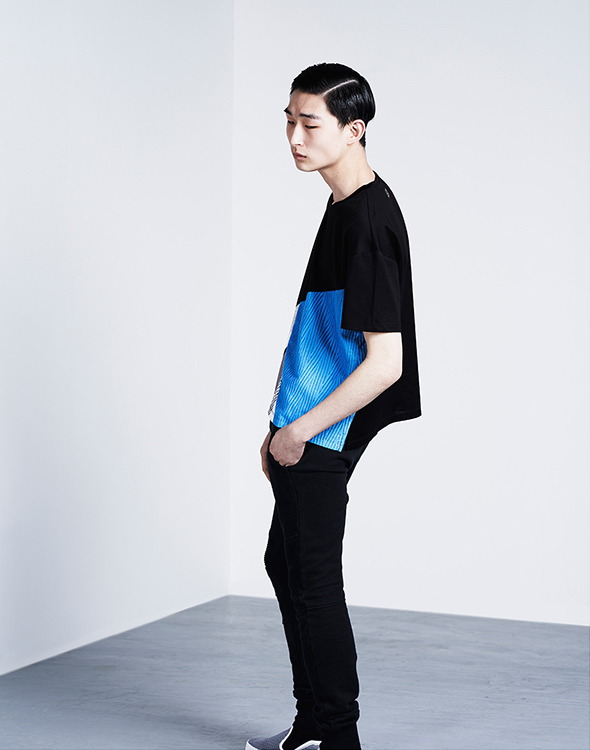 Wooyoungmi Contrast-patch T-shirt