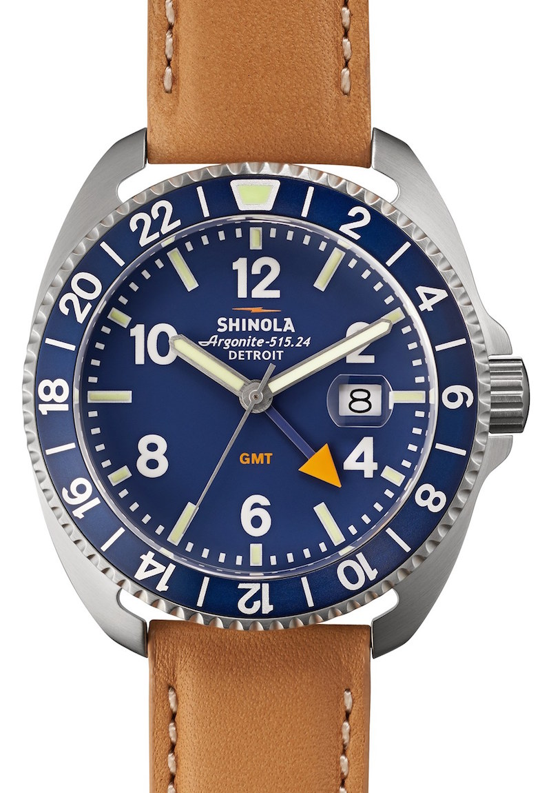 Shinola Rambler Dual Time Leather Strap Watch_1