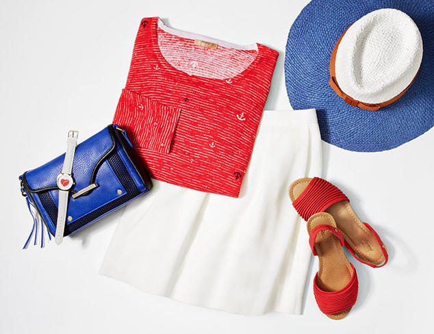 Color Theory Red, White & Blue at MYHABIT