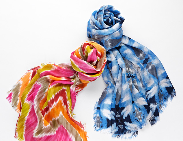 Stand Out Style Scarves feat. Elizabeth Gillett at MYHABIT