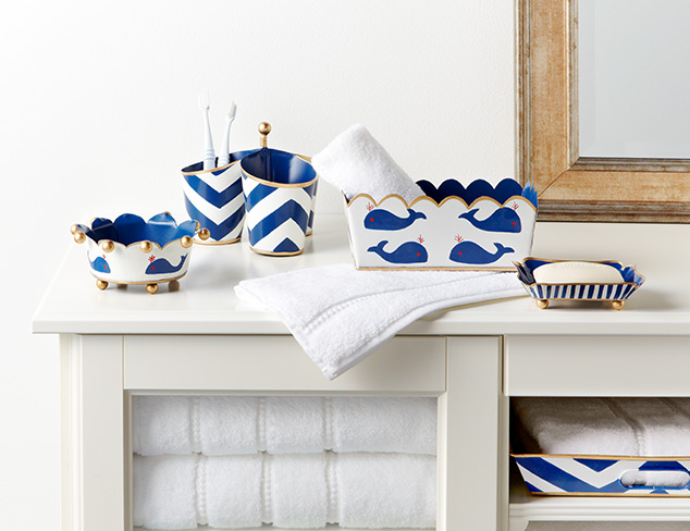 Up to 70 Yacht Club-Inspired Bath Décor at MYHABIT