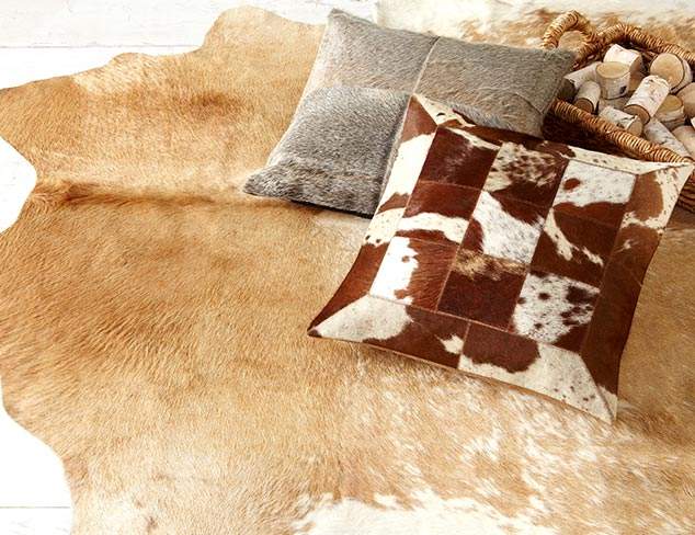 Hide Rugs & Pillows at MYHABIT