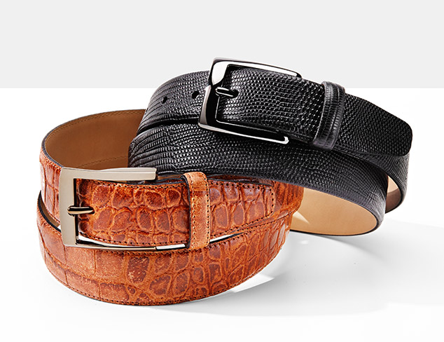 A Notch Above Leather Belts at MYHABIT