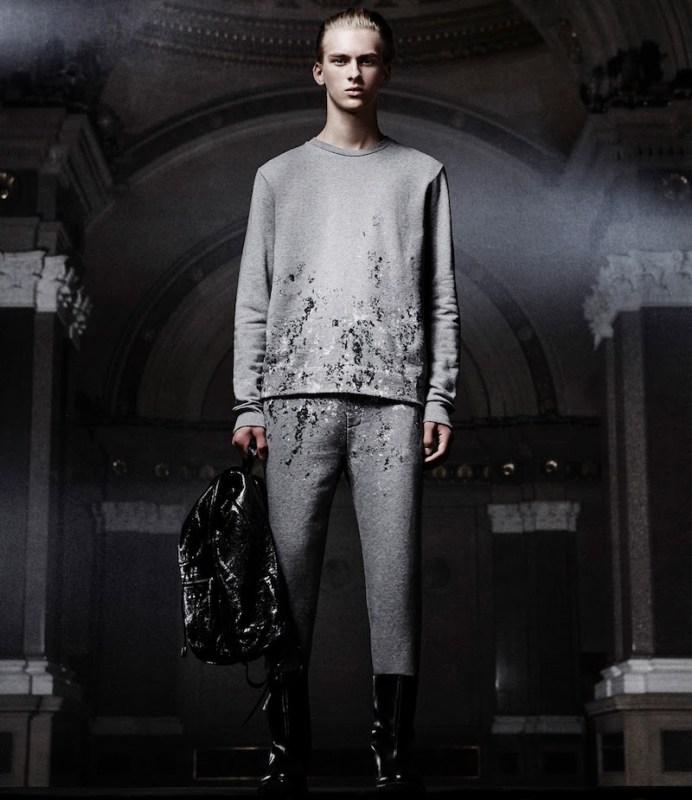 Balenciaga Stone-Print Sweatshirt