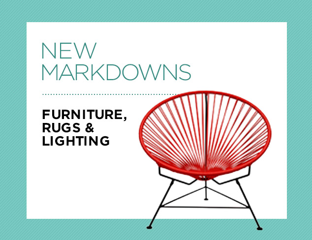 New Markdowns Furniture, Rugs & Lighting at MYHABIT
