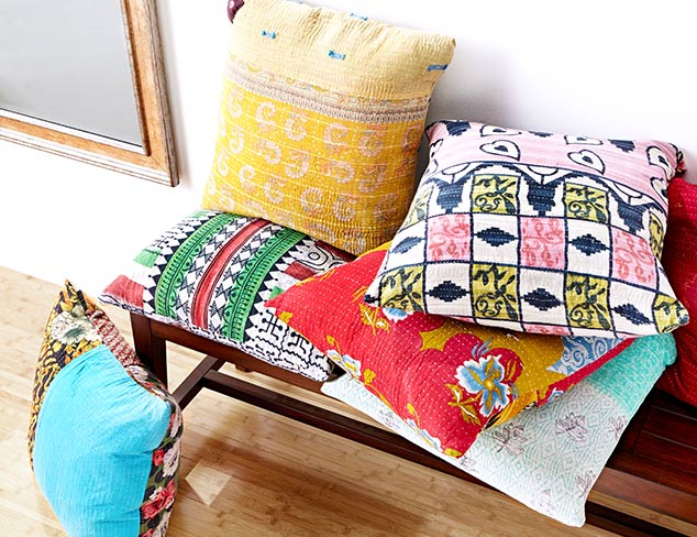One-of-a-Kind Kantha Pillows at MYHABIT