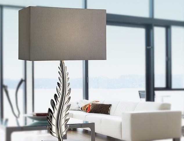 Artistic Lighting Brass Leaf Table Lamp