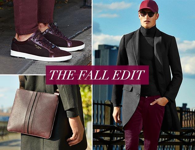 The Fall Edit Burgundy, Grey & Black at MYHABIT