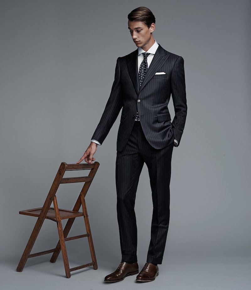 Cifonelli Striped Two-Button Marbeuf Suit