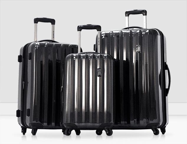 Dark & Sleek Black & Gunmetal Luggage at MYHABIT