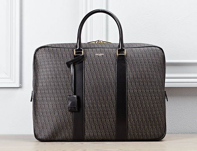 Saint Laurent toile Monogram Briefcase
