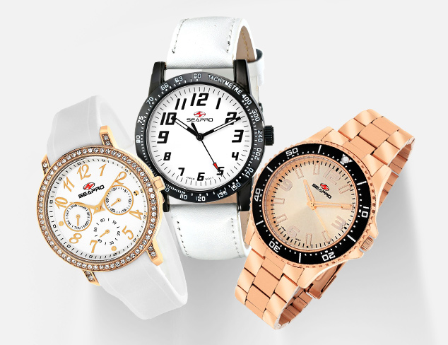 Sporty Chic Watches feat. Seapro at MYHABIT