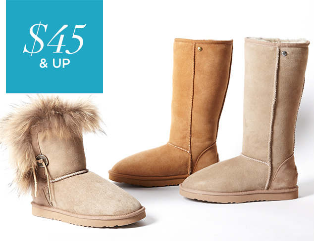 $45 & Up Cozy Boots at MYHABIT