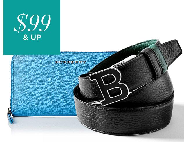$99 & Up Designer Wallets & Belts at MYHABIT