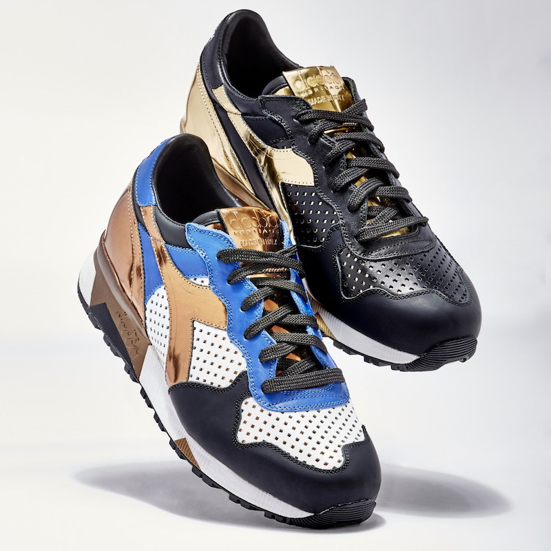 BNY Sole Series Diadora Perforated-Detail Leather Sneakers_1