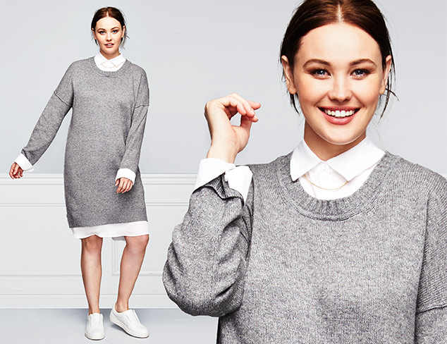 The Cashmere Shop Plus Size Styles at MYHABIT