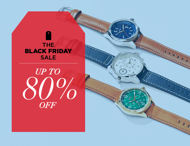 Up to 80 Off Watches & More at MYHABIT