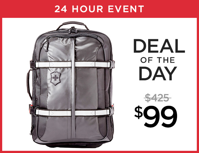Deal of the Day Victorinox Expandable Suitcase at $99 at MYHABIT