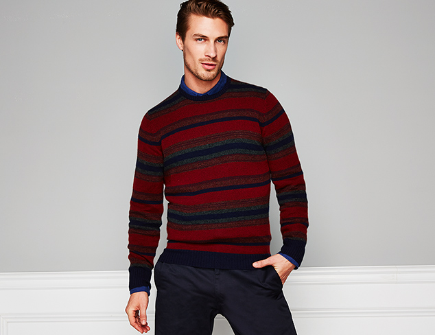 New Markdowns Printed & Textured Sweaters at MYHABIT