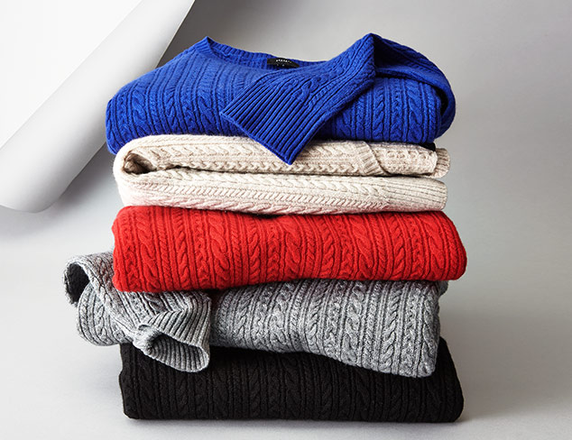 SOCIETY NEW YORK Cable Sweaters Inc. Plus Sizes at MYHABIT