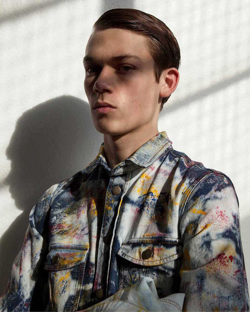 James Long Tie-Dye Painted Denim Shirt_1