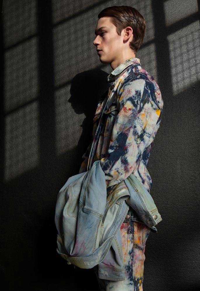 James Long Watercolour Washed Denim Jacket