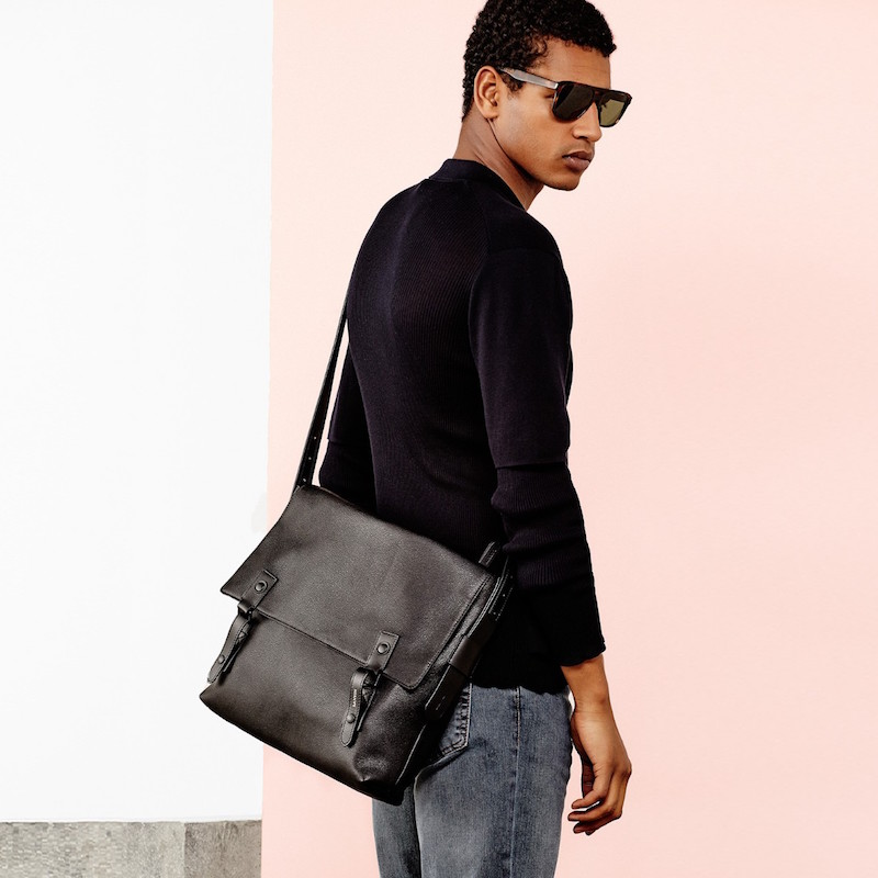 Lanvin Grained-leather Messenger Bag