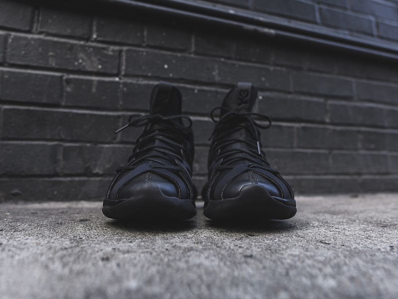 Y-3 Yohji Yamamoto Kyujo High Sneakers in Triple Black_3