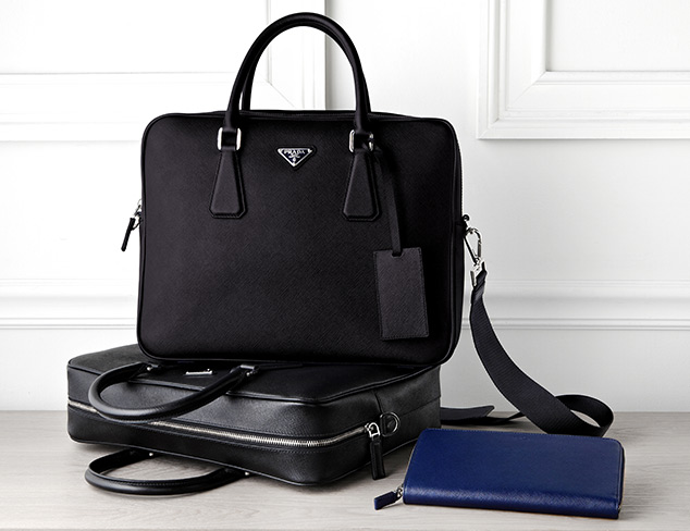 Leather Bags & Briefcases feat. Prada at MyHabit