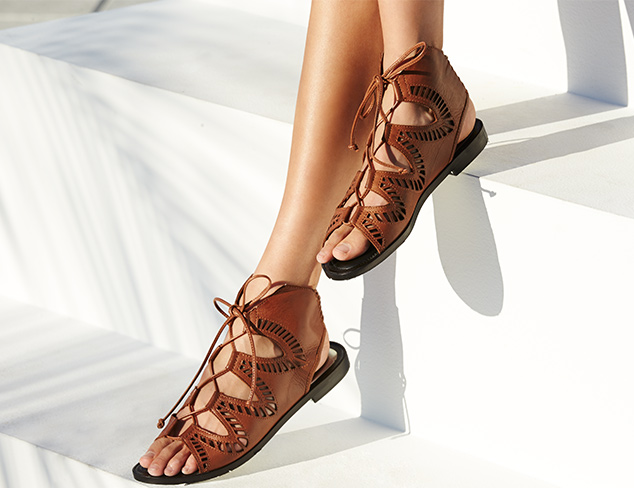 Fun in the Sun Gladiator & Lace-Up Sandals at MyHabit