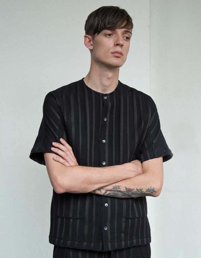 Mohsin Altmann Striped Short Sleeved Shirt