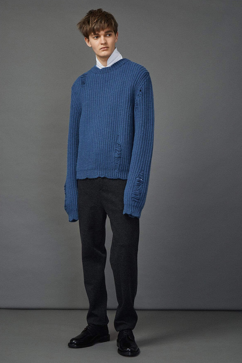 J.W. Anderson Thick Laddered Knit Sweater