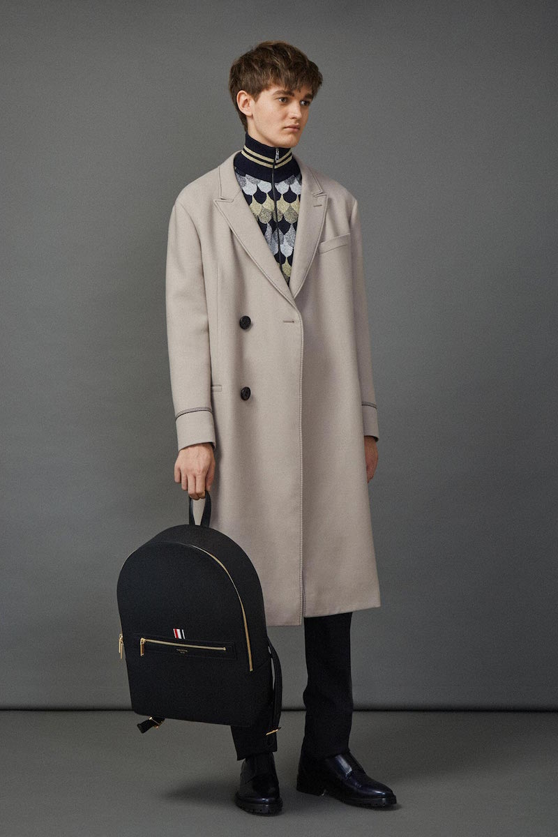 Lanvin Double-breasted Contrast Stitch Coat