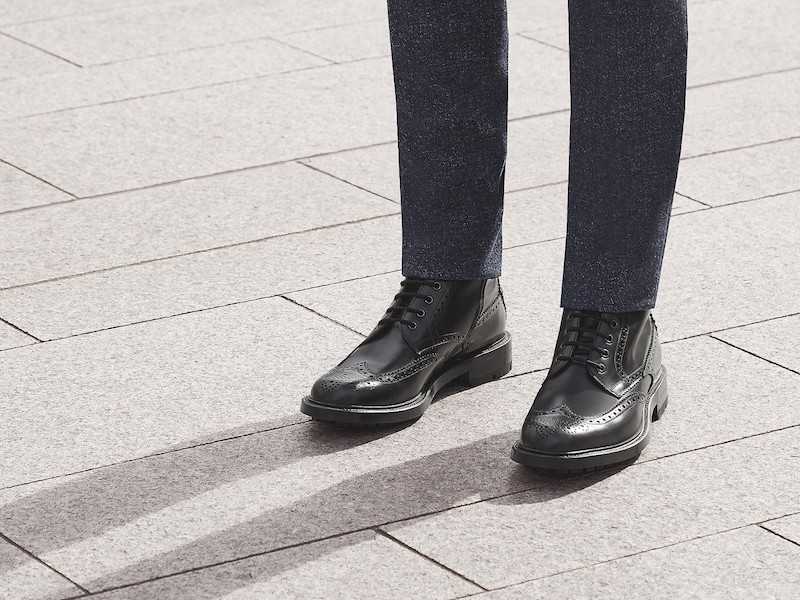Gucci Lace Up Leather Brogue Boots