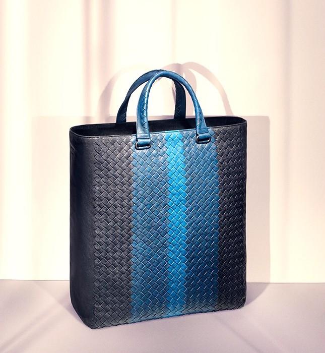 Bottega Veneta Tri Colour Intrecciato Leather Tote Bag